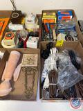 Assortment of Extension Cords, Hardware, Small Wall Hangings, Electrical Timers, More
