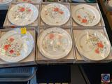 (6) Just Flowers Bone China by Mikasa, 3 Piece Place Setting, (1) Set Plastic has been Removed
