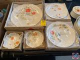 Just Flowers Bone China by Mikasa, 3 piece Place Setting New in Package, 2 Sets of Four Salad Plates