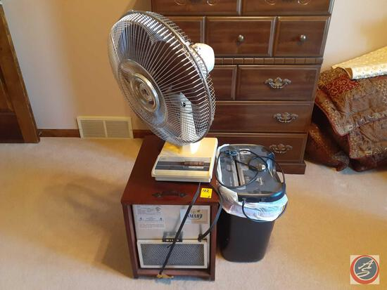 Tozaj Oscillating Fan, Electric Infrared Fireplace Model No. FH-1500-WR and Fellows Paper Shredder