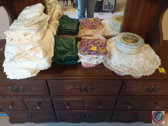 Assorted Linens and Doileys