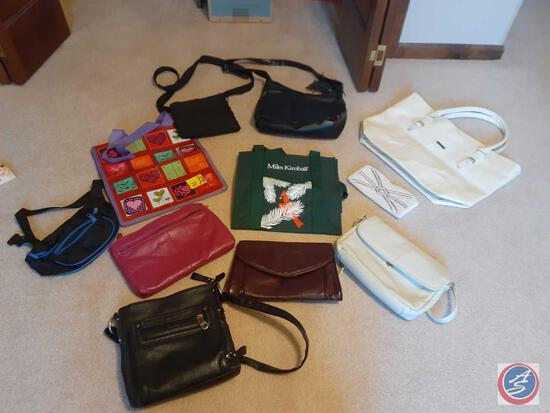 Assorted Bags and Purses Including Stone Mountain Cross Body Purse, Miles Kimball Tote and Beaded