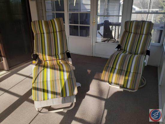 (2) Patio Rockers with Cushions