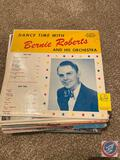 Vintage Vinyl Records Including Frankie Yankovic, The Little Drummer Boy, Dance Time with Bernie