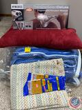 Homedics Programmable Percussion Massager, No. 2 Pencils and Assorted Blanket and Pillow