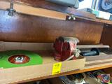 Cleveland Ohio Bench Vise, Santyau Fiberglass Measuring Tape, Tool Caddy and Short Handled Slege