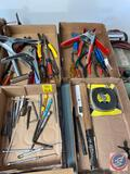 Assorted Clamps, Picks, Allen Wrenches, Sears Tape Measure, Hammer and More