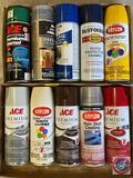 Assorted Spray Paints {{PARTIAL CANS}}