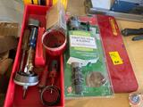 Hole Saw Drill Bits, Flathead Screw Drivers, Universal Toilet Fill Valve and Flapper {{PARTIAL KIT}}