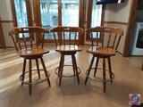 {{3X$BID}} Bar Stools Measuring 38'' Tall Marked Made in Yugoslavia