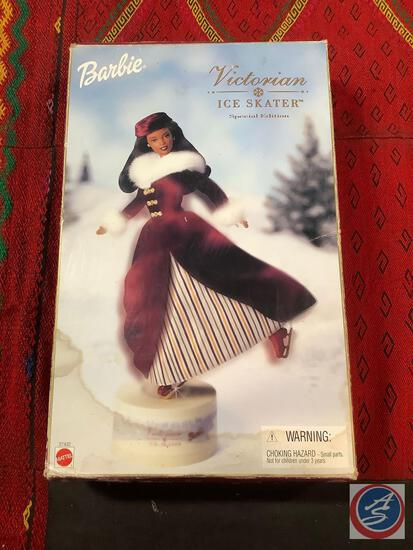 Victorian ice skater special edition African-American Barbie doll box is rough