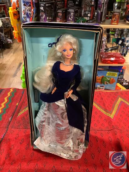 Winter velvet Barbie with box