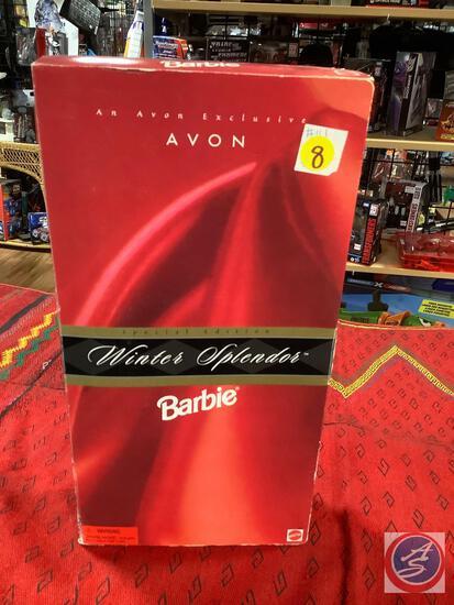 1998 red Avon winter splendor Barbie inbox some significant shelfware