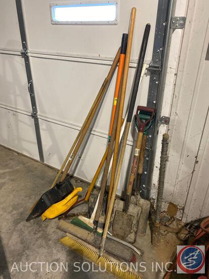 Push Brooms, Broom Spades, Shovels, Sledgehammer