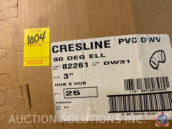 Partial Box of Crest Line PVC 90 Degree Elbow's 3 inch