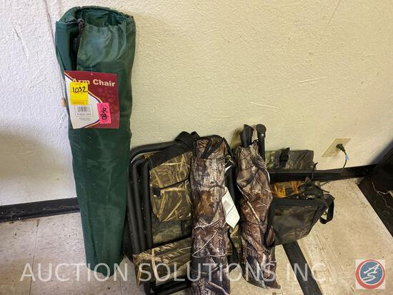 Deer Blind Hunting Chairs, Folding Arm Chair with Case and More