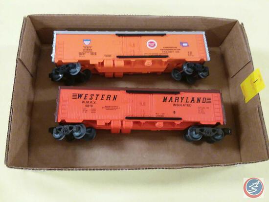 {{2X$BID}} Replica Western W.M.R.X Maryland Model Train Car and Replica Lionel Missouri Pacific