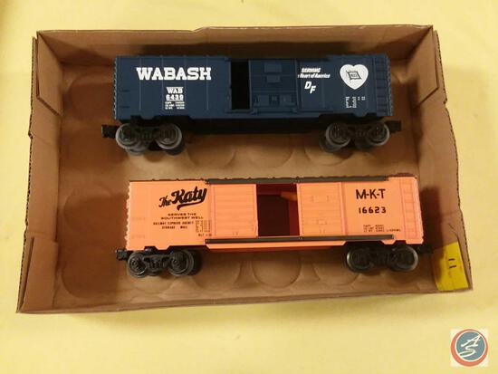 Replica Wabash WAB 6439 Serving The Heart Of America DF Box Car and Replica M-K-T 16623 The Ratty