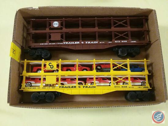 {{2X$BID}} Replica N&W Trailer Train Car Marked 9129 and Replica CO Progress Trailer Train Car