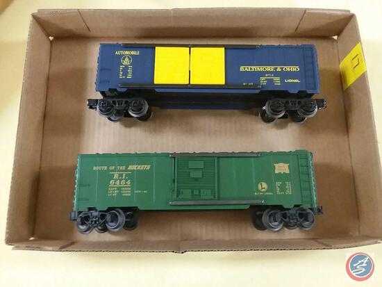 {{2X$BID}} Lionel Replica Baltimore and Ohio Automobile Boxcar and Lionel Replica Route of the