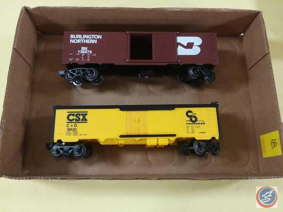 {{2X$BID}} Replica Burlington Northern BN 130575 Boxcar and Lionel Replica CSX C&O 19520 {{BOTH O