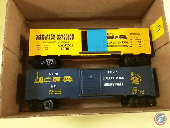 {{2X$BID}} Replica Midwest Division Train Collectors Association Boxcar Marked August 10, 1974