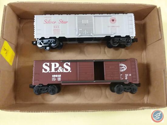 {{2X$BID}} Replica Seaboard Lines Silver Star 40 Boxcar SAL 25403 and Replica Spokane Portland