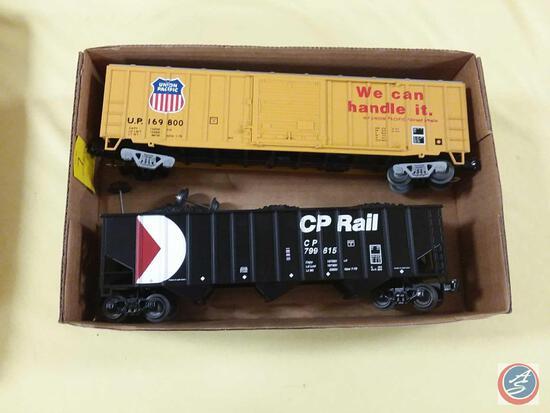 {{2X$BID}} Replica Union Pacific Boxcar Marked 169 800 and CP Rail Bathtub Coal Gondola {{BOTH O
