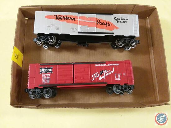 {{2X$BID}} Replica Western Pacific Combo Boxcar and Replica Lionel Frisco SL-SF 19230 Boxcar {{BOTH