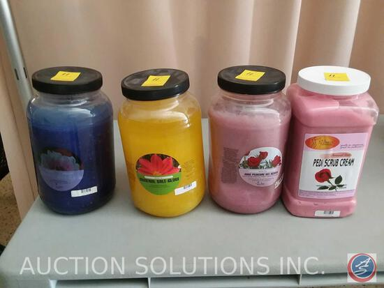 (2) Container of Winter Ice Mineral Salt-Glow Scrub, Container of Winter Ice Rose Pedicure Gel Scrub