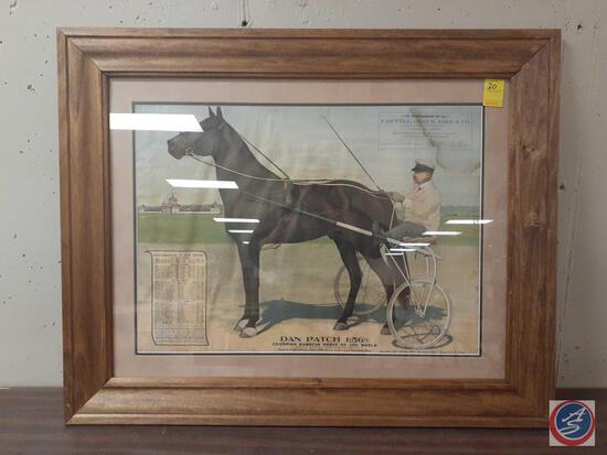 Dan Patch Champion Harness Horse Of The World Framed Compliments Of Farwell Ozmun Kirk And Co