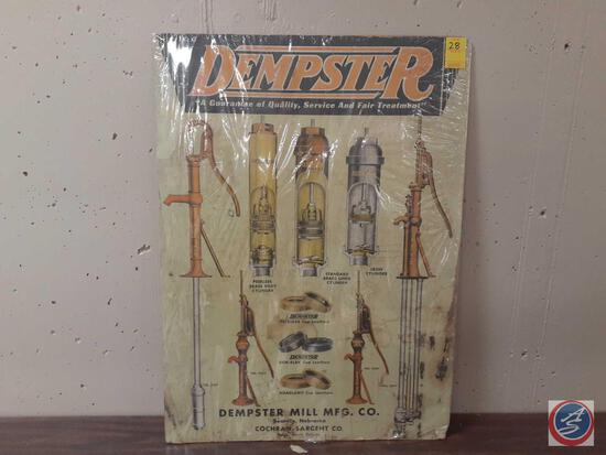 """Dempster Mill Co. Marketing Piece Measuring 30""""X 22"""""""