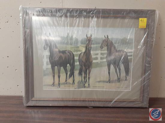 """Dan Patch Fastest Stallions In The World Framed Poster Measuring 18""""X 24"""""""