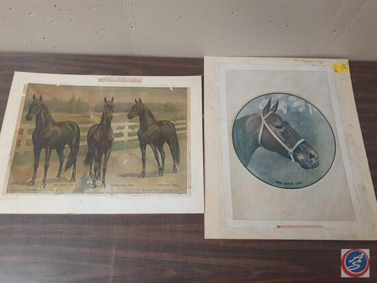 Don Patch Picture No Frame Measuring 24'' X 20'' and Fastest Stallions in the World by M.W. Savage