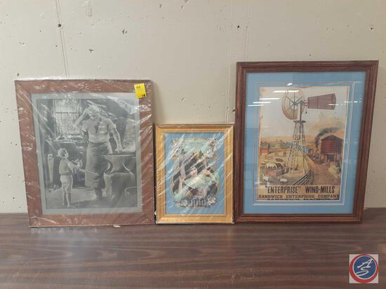 Mestl Bros. Hardware and Implements Framed Calendar From 1906 Measuring 9 3/4'' X 13 3/8'',