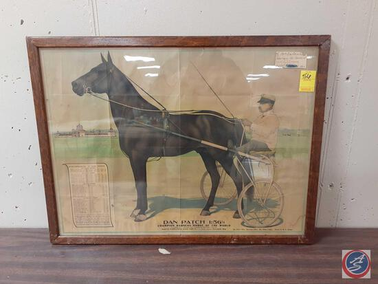 Dan Patch Poster Framed by M.W. Savage Advertising the International Stock Food Company Measuring