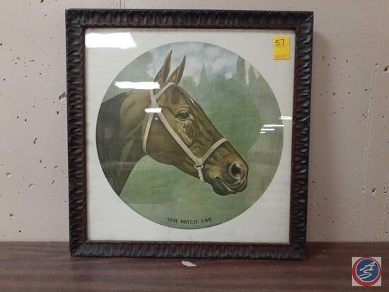 Dan Patch Picture Framed Measuring 22'' X 21 1/2''