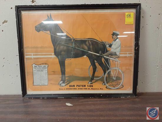 Dan Patch Poster Framed Measuring 22'' X 17''