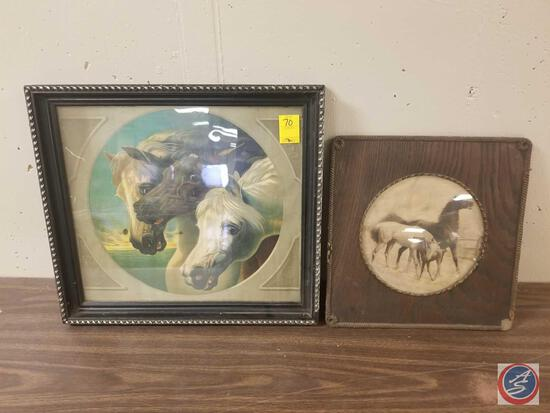 James Lee Chicago Print of Three Horses Measuring 18 1/2'' X 20 1/2'' and Pharaoh's Horses by