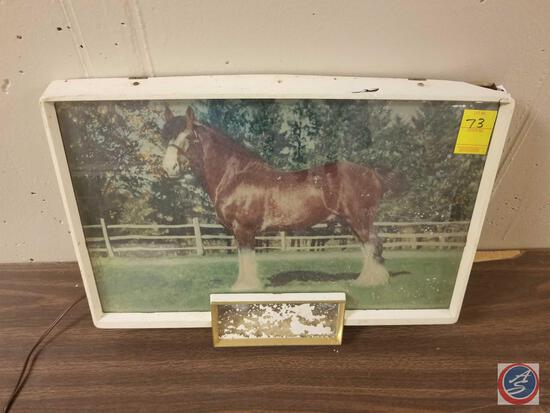 Anheisur-Busch Clydesdale Lighted Sign Measuring 20'' X 13 1/2''