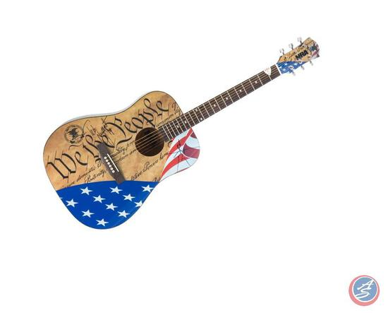 ?We the People? Guitar Signed by Ted Nugent Freedom-loving enthusiasts will covet this one-of-a-kind