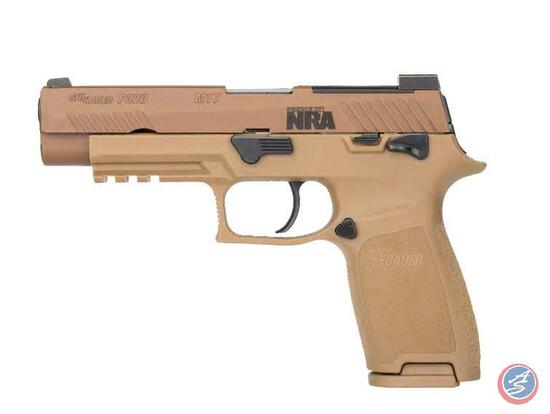 Sig Sauer P320 M17 9mm with Friends of NRA Logo ? Caliber: 9mm Luger ? Barrel Length: 4.7? ? Action: