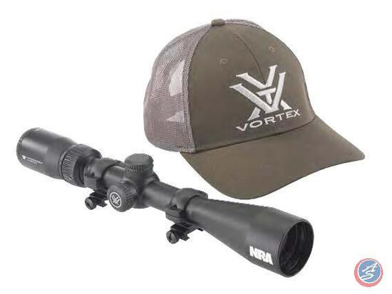 Crossfire... Scope with NRA Logo The Vortex... Crossfire... II 4-12x44mm Rifle Scope is a highly pre