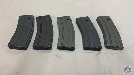 (5) 30 Round Aluminum AR magazines - various brands -... Used LE Consignment - condition varies-stoc