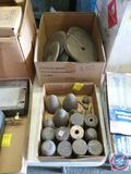 Carborundum Cones and Cylinders and Assorted Grinding Wheels