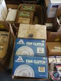(2) Big Ignition Fan Clutch Part No. 36597 and 36958, (2) NuLine Fan Clutches Part No. 1601, 1602,