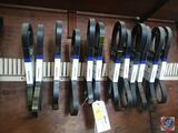 {{12X$BID}} Napa Belts Including Part No. 060980, 060938, 060947, 060923 and More {{RACK INCLUDED}}