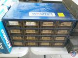 Wagner Brake Products Sixteen Drawer Hardware Organizer Measuring 17'' X 11'' X 11'' Full of