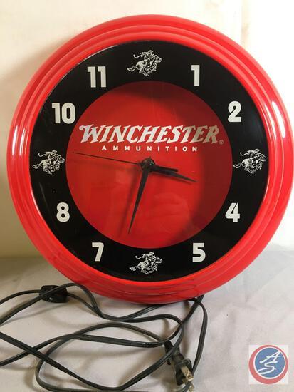 """Winchester Ammunition Clock 14"""" Round"""