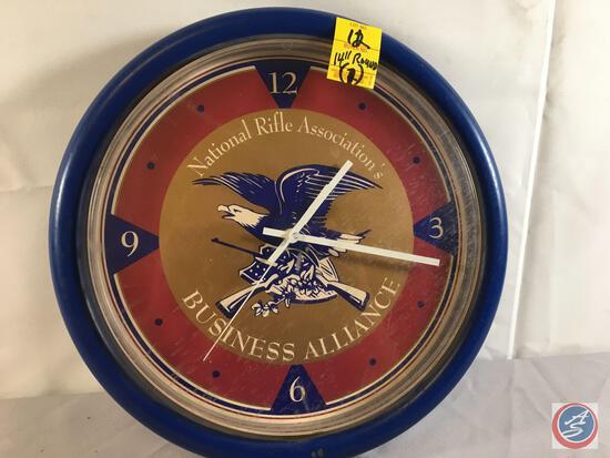 "National Rifle Buisness Alliance Clock 14"" Round ..."